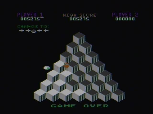 derek: Q-Bert [Game 1] (Atari 400/800/XL/XE) 5,275 points on 2016-03-27 20:26:37