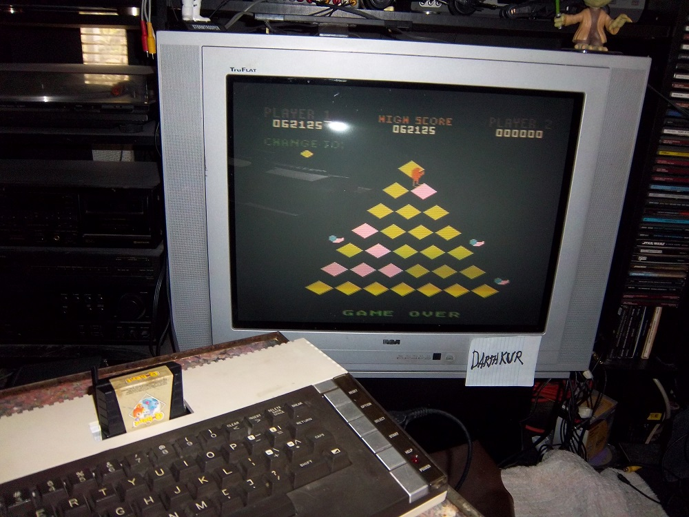 darthkur: Q-Bert [Game 1] (Atari 400/800/XL/XE) 62,125 points on 2016-04-10 14:20:39