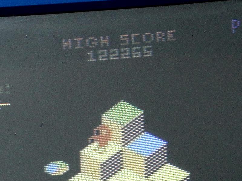 RetroGamersHub: Q-Bert [Game 1] (Atari 400/800/XL/XE) 122,265 points on 2016-09-15 19:07:08