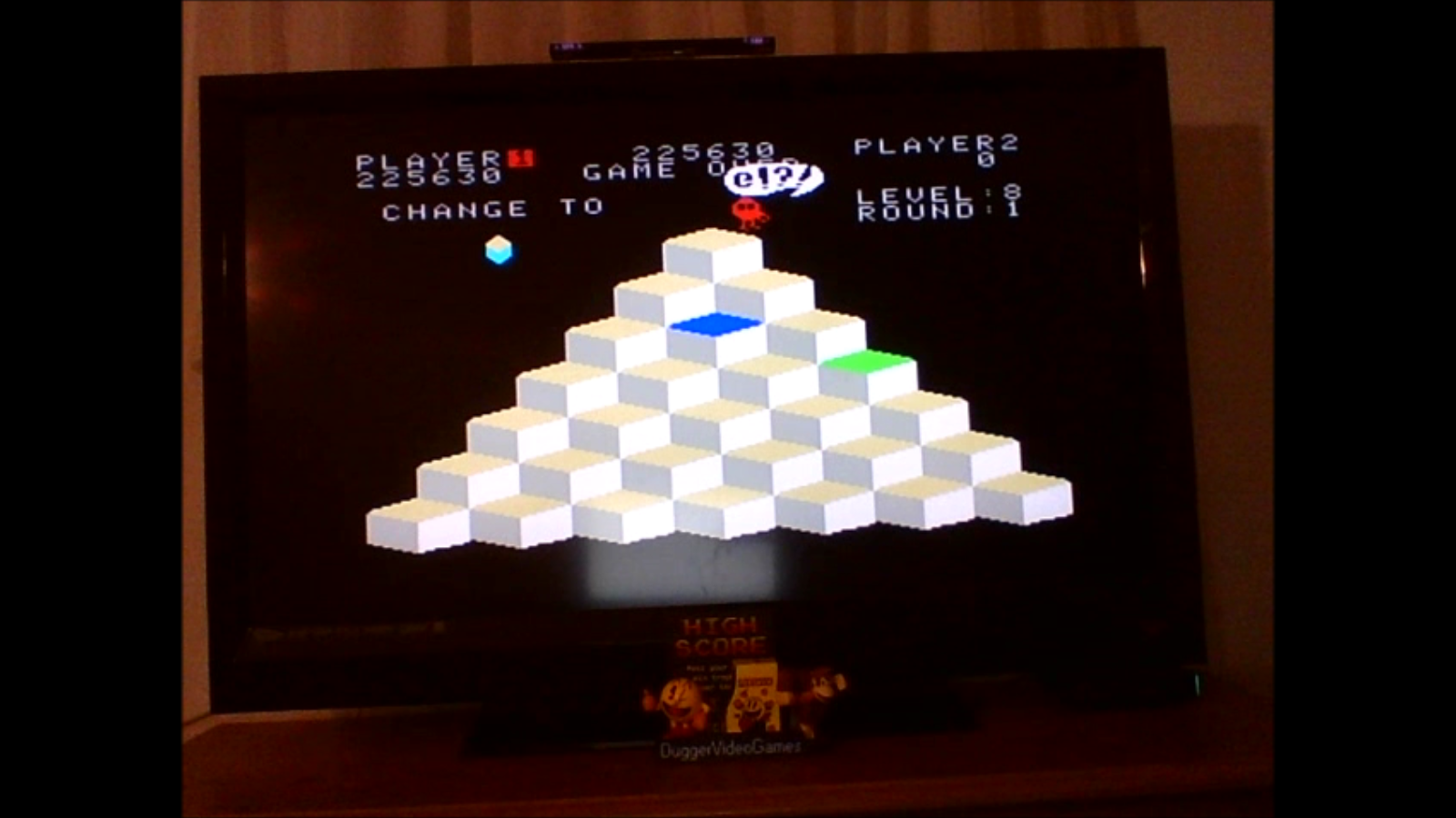 DuggerVideoGames: Q*Bert (Colecovision Emulated) 225,630 points on 2017-02-04 23:55:31