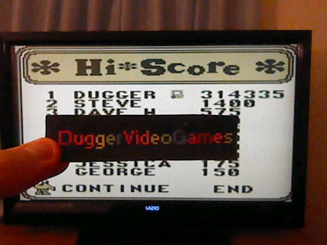 DuggerVideoGames: Q*Bert (Game Boy Emulated) 314,335 points on 2017-12-04 04:57:59