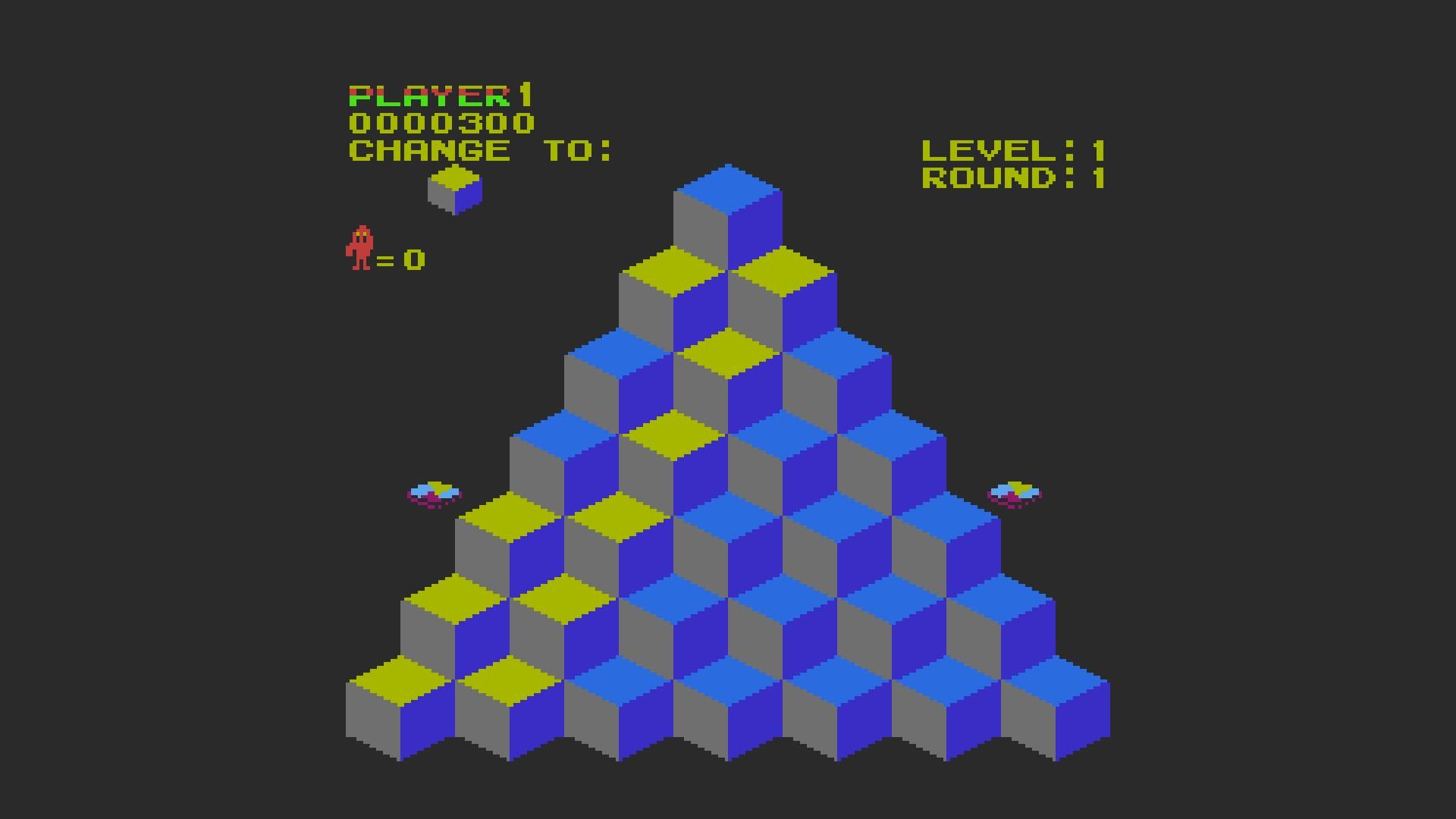 AkinNahtanoj: Q*Bert (NES/Famicom Emulated) 300 points on 2020-10-27 08:00:45