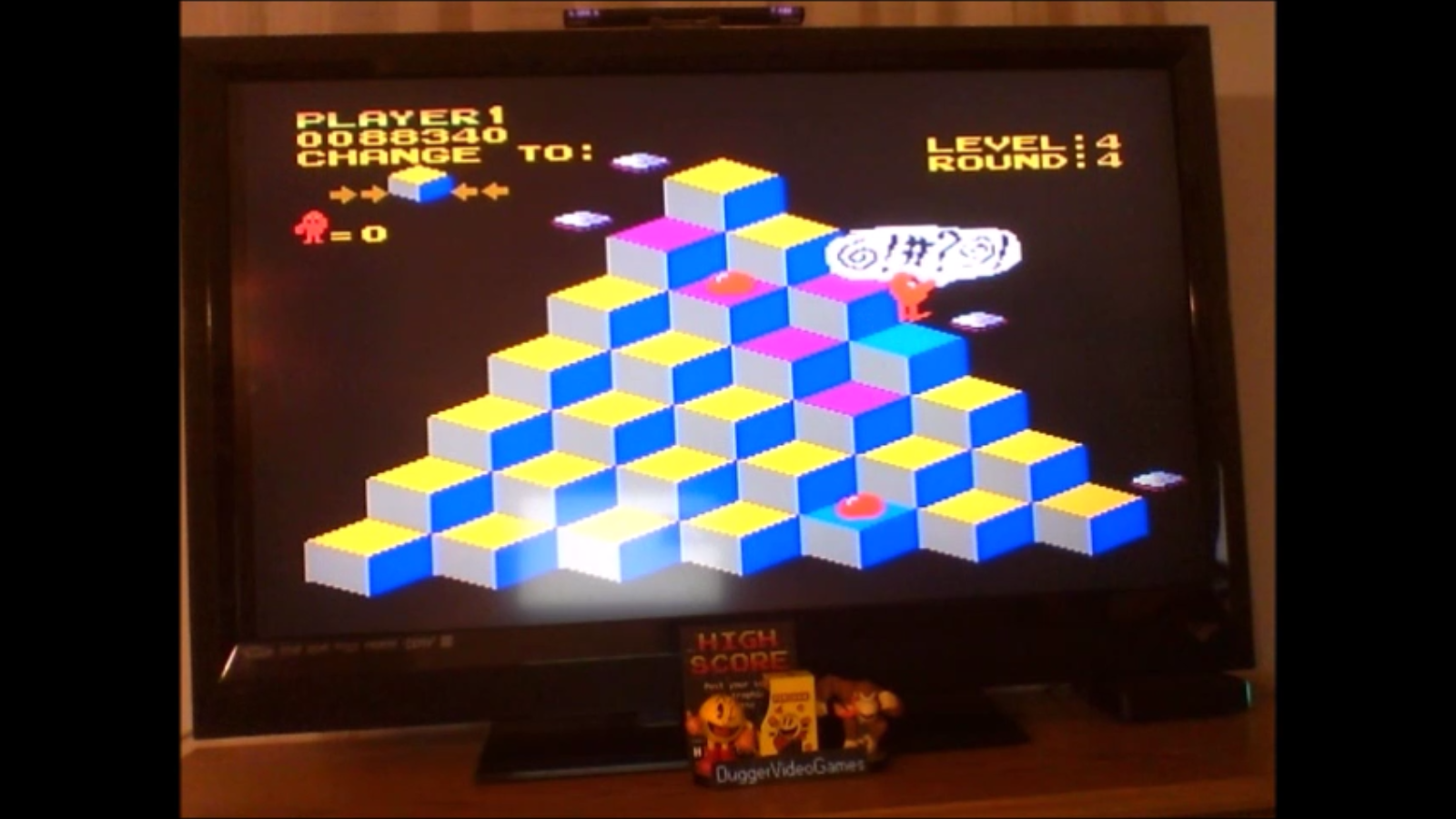 DuggerVideoGames: Q*Bert (NES/Famicom Emulated) 88,340 points on 2017-02-02 00:16:52