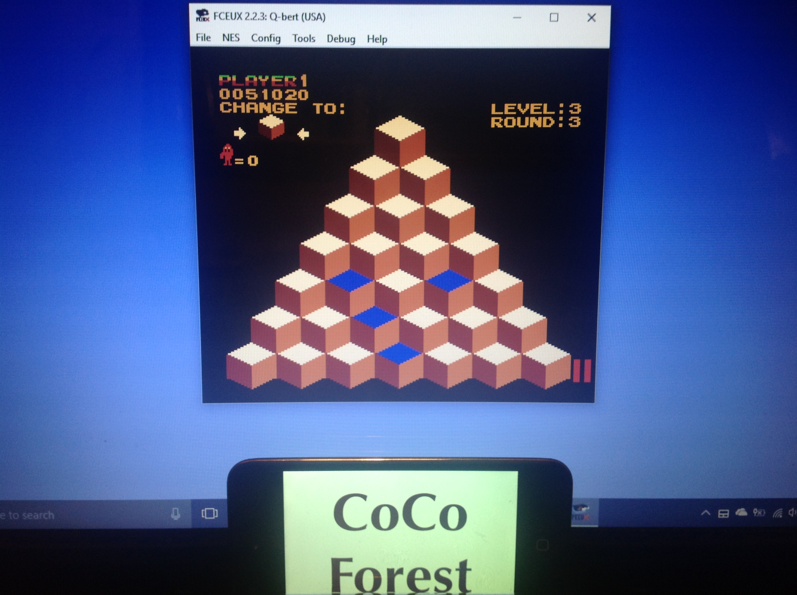CoCoForest: Q*Bert (NES/Famicom Emulated) 51,020 points on 2018-01-30 11:09:32