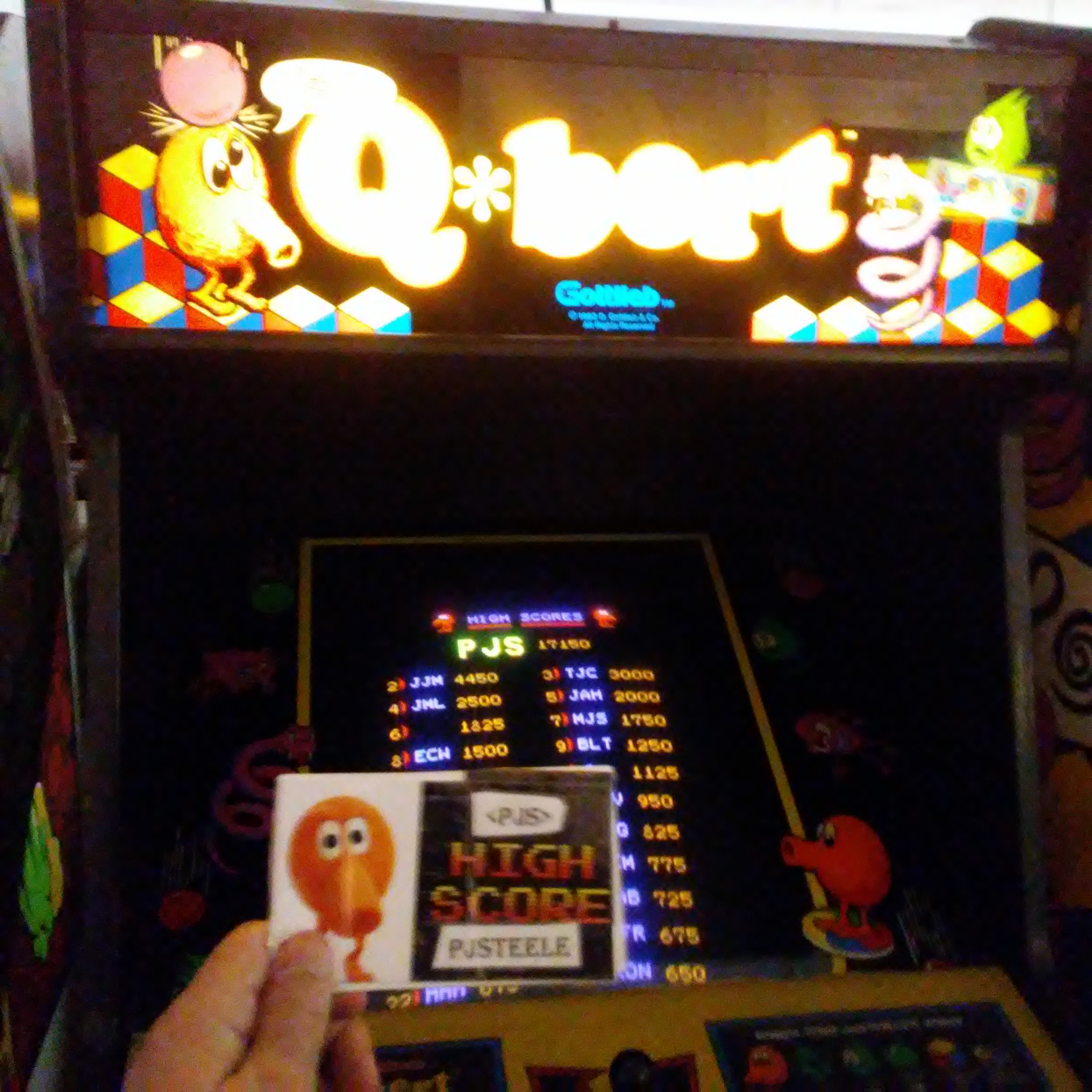 Q*bert 17,150 points