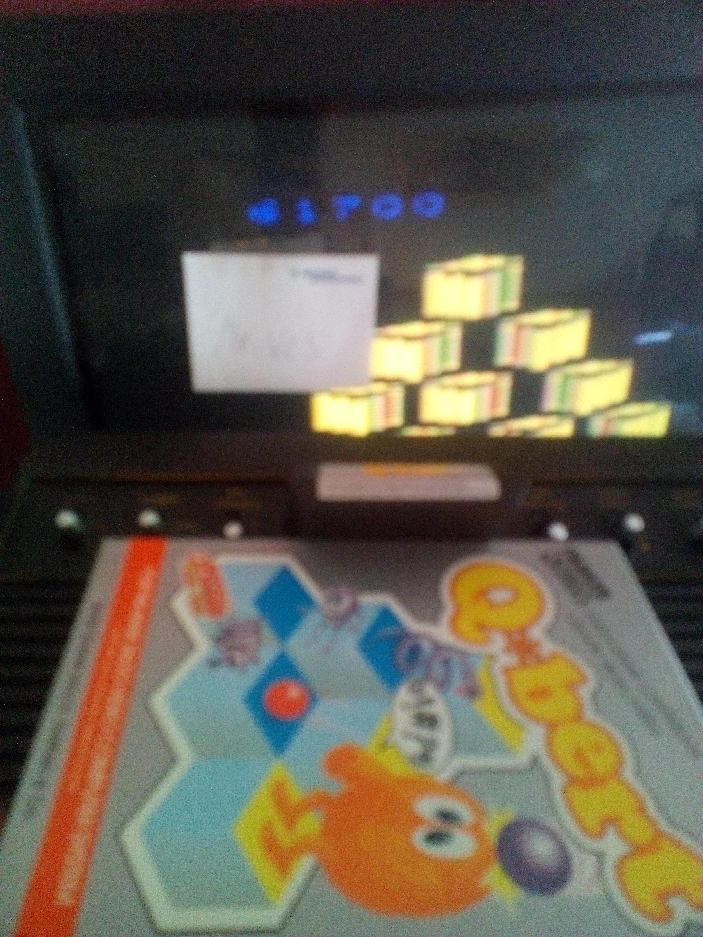MisterVCS: Q*bert (Atari 2600 Novice/B) 61,700 points on 2017-07-09 07:07:24