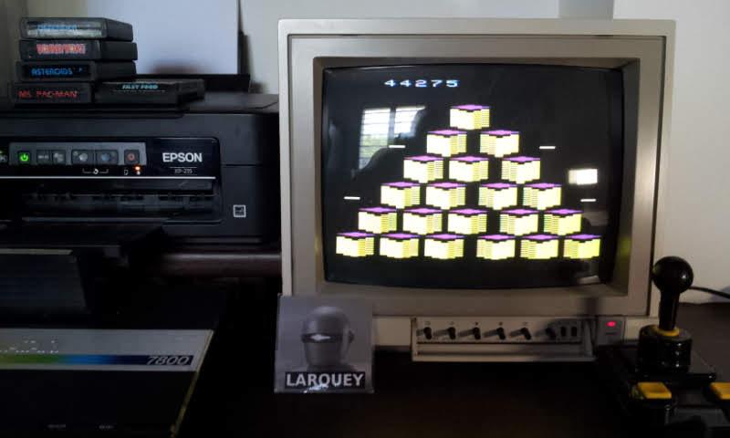 Larquey: Q*bert (Atari 2600 Novice/B) 44,275 points on 2018-07-21 05:32:50