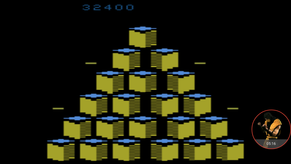 omargeddon: Q*bert (Atari 2600 Emulated Novice/B Mode) 32,400 points on 2017-12-06 16:00:10