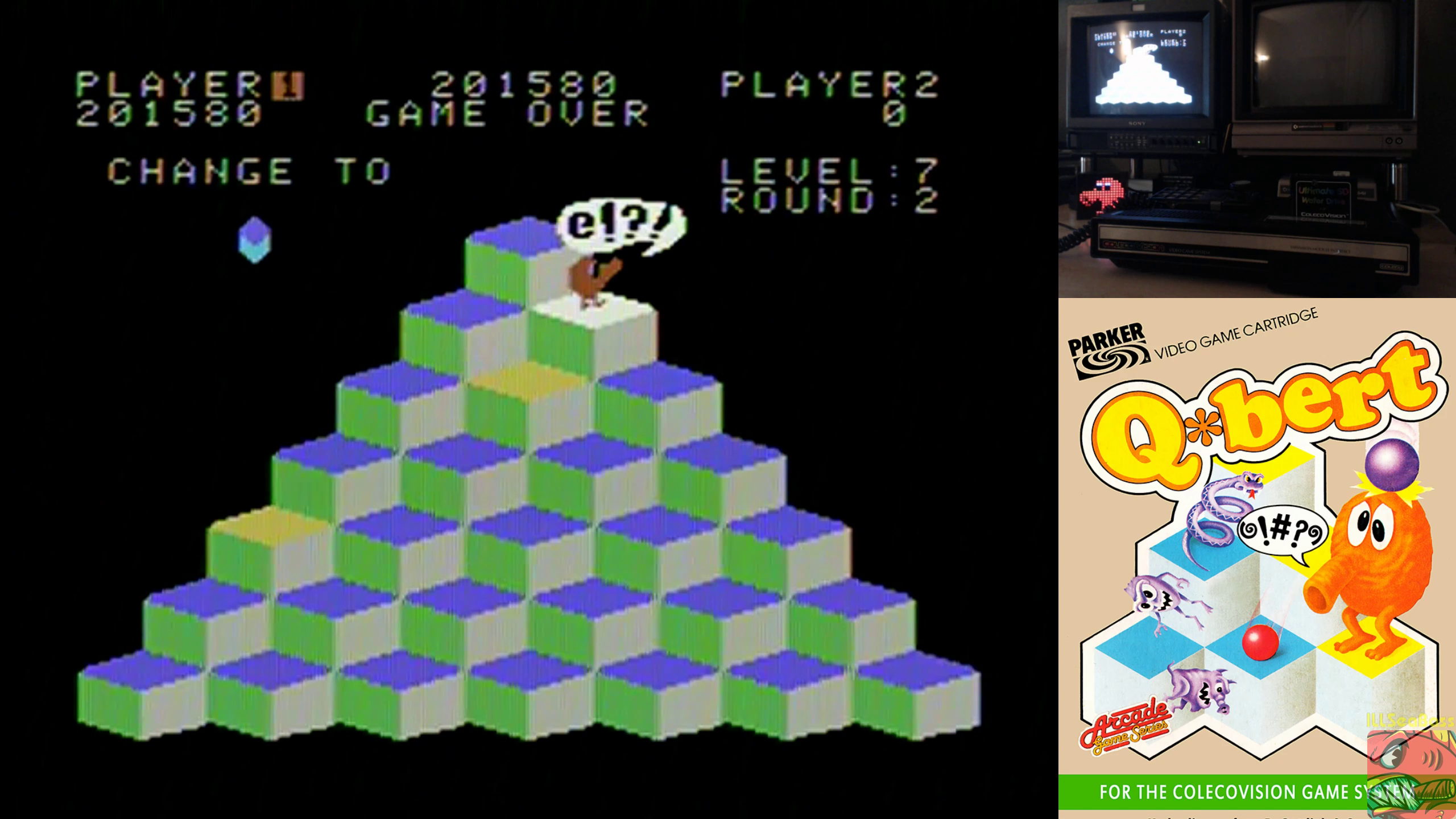 Q*bert 201,580 points