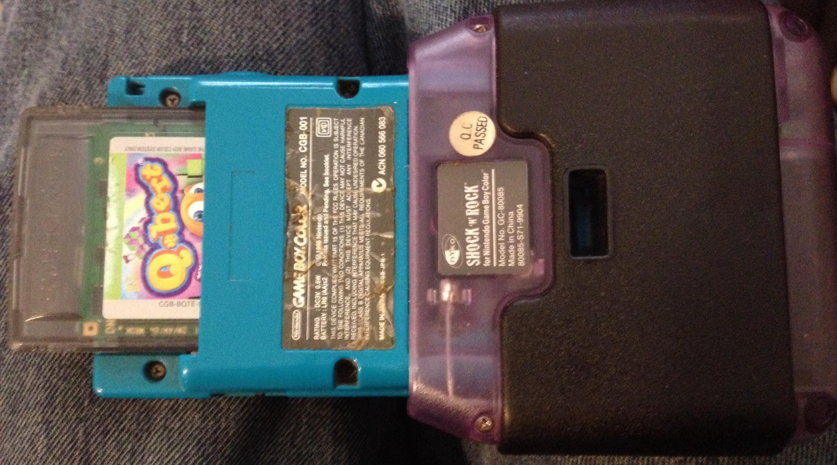 zerooskul: Q*bert (Game Boy Color) 23,100 points on 2019-10-15 13:37:56