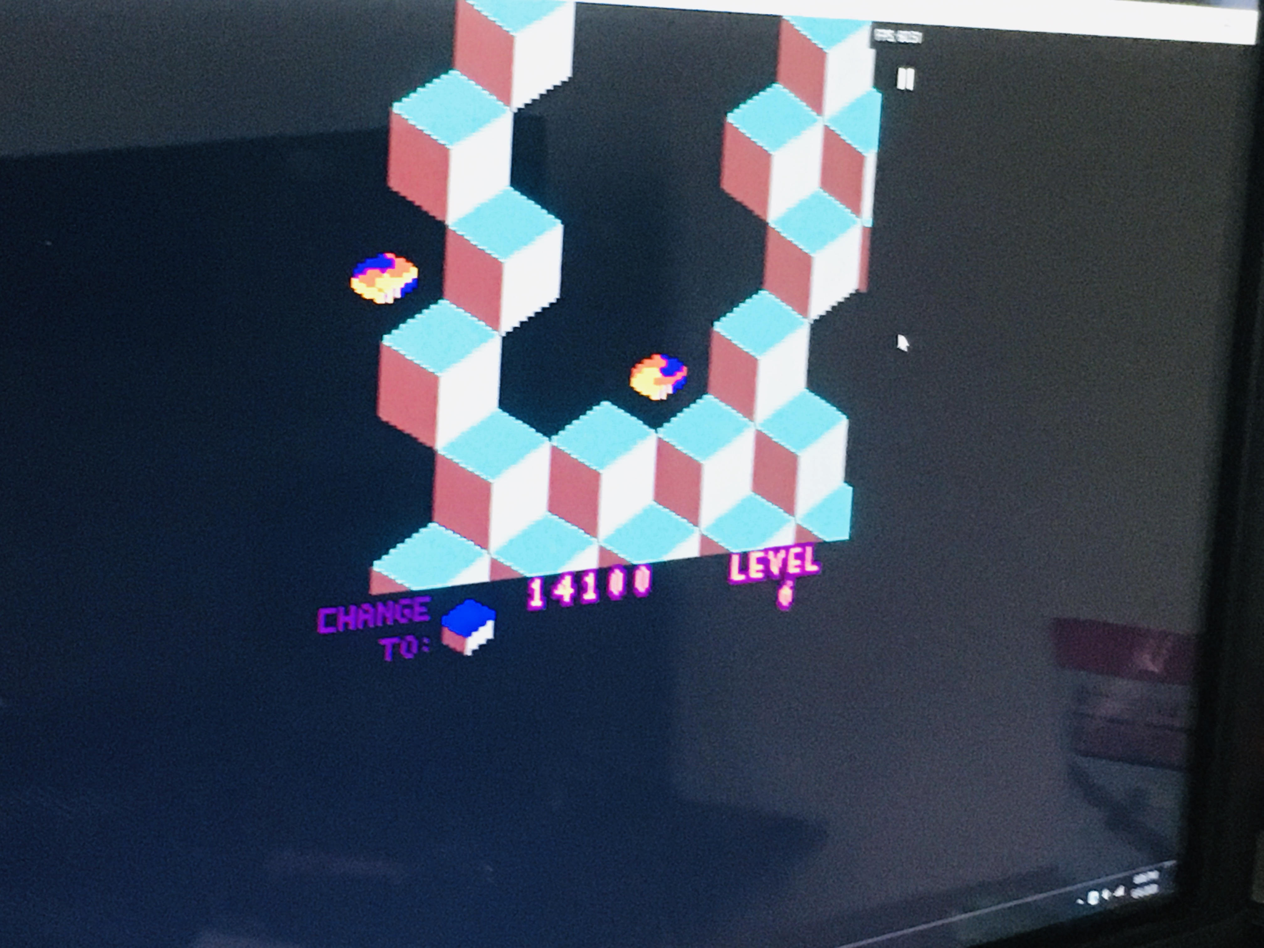 WDD: Q*bert (Game Boy Color Emulated) 14,100 points on 2020-06-06 17:07:06