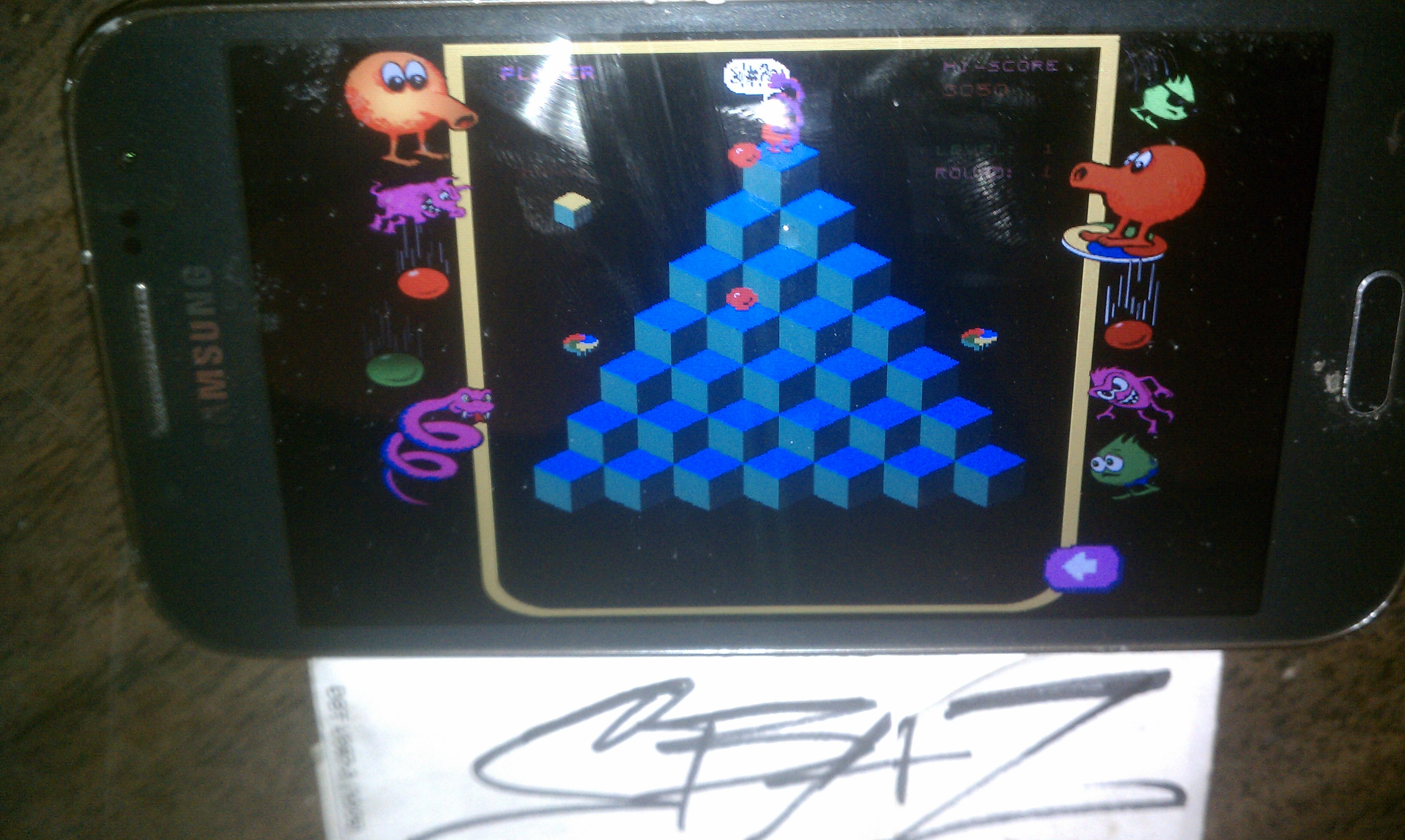 S.BAZ: Q*bert Rebooted [Classic] (Android) 3,050 points on 2018-02-14 22:37:16