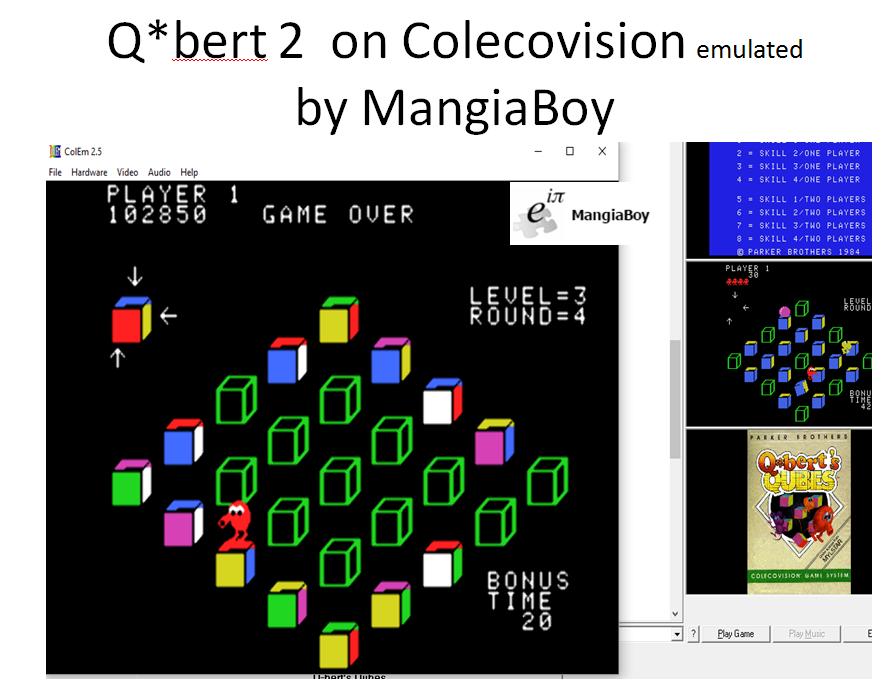 MangiaBoy: Q*bert