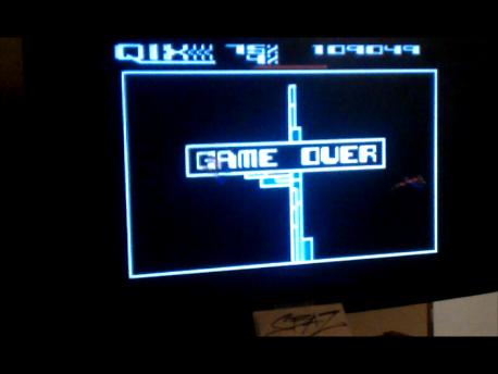 S.BAZ: Qix: Advanced (Atari 5200) 109,049 points on 2016-02-25 03:43:50