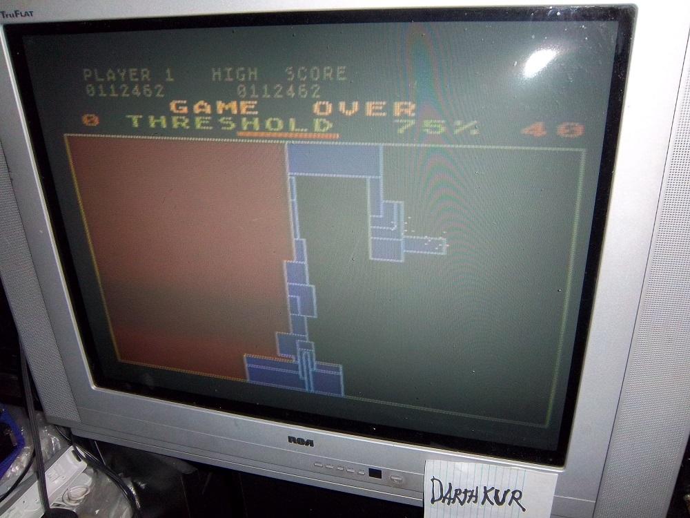 darthkur: Qix (Atari 400/800/XL/XE) 112,462 points on 2016-04-10 14:23:15
