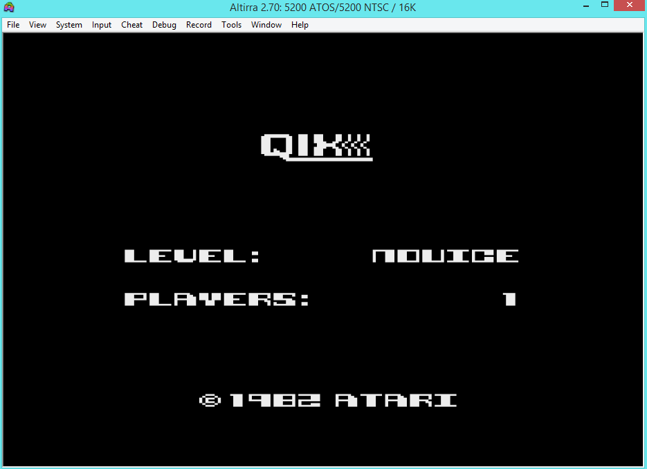 oyamafamily: Qix: Novice (Atari 5200 Emulated) 49,109 points on 2016-04-24 06:18:17