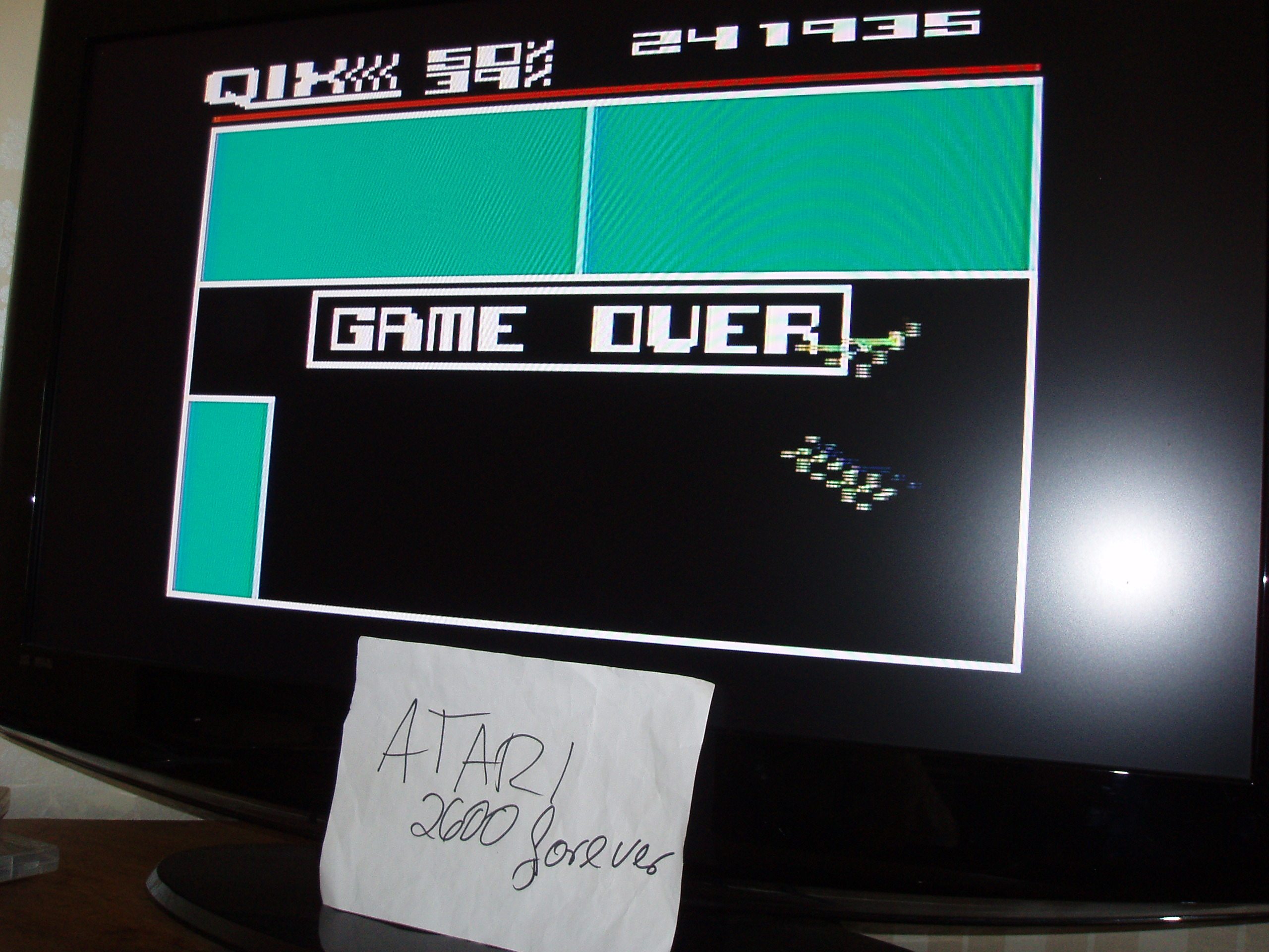 atari2600forever: Qix: Novice (Atari 5200) 241,935 points on 2019-05-09 03:37:29