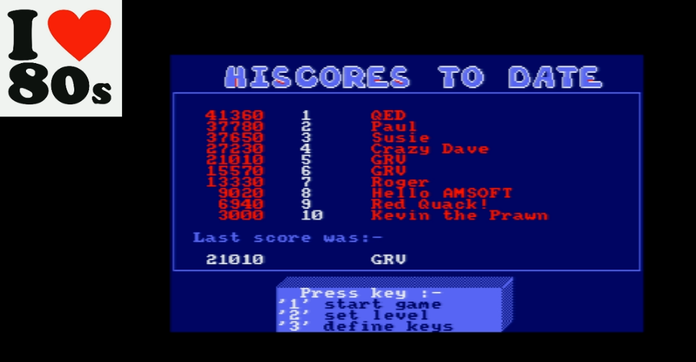 Giorvam: Quack A Jack (Amstrad CPC Emulated) 21,010 points on 2018-01-19 12:13:06