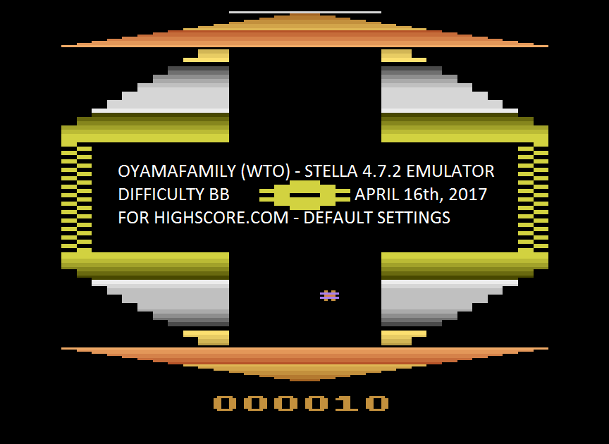 oyamafamily: Quadrun (Atari 2600 Emulated Novice/B Mode) 10 points on 2017-04-16 18:03:16