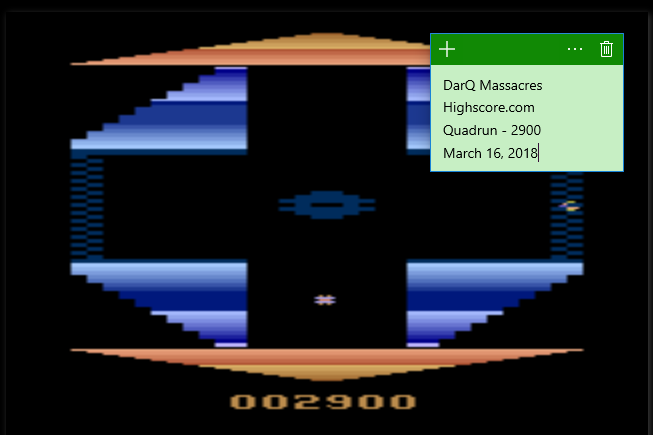 DarQMassacres: Quadrun (Atari 2600 Emulated Novice/B Mode) 2,900 points on 2018-03-16 06:26:19