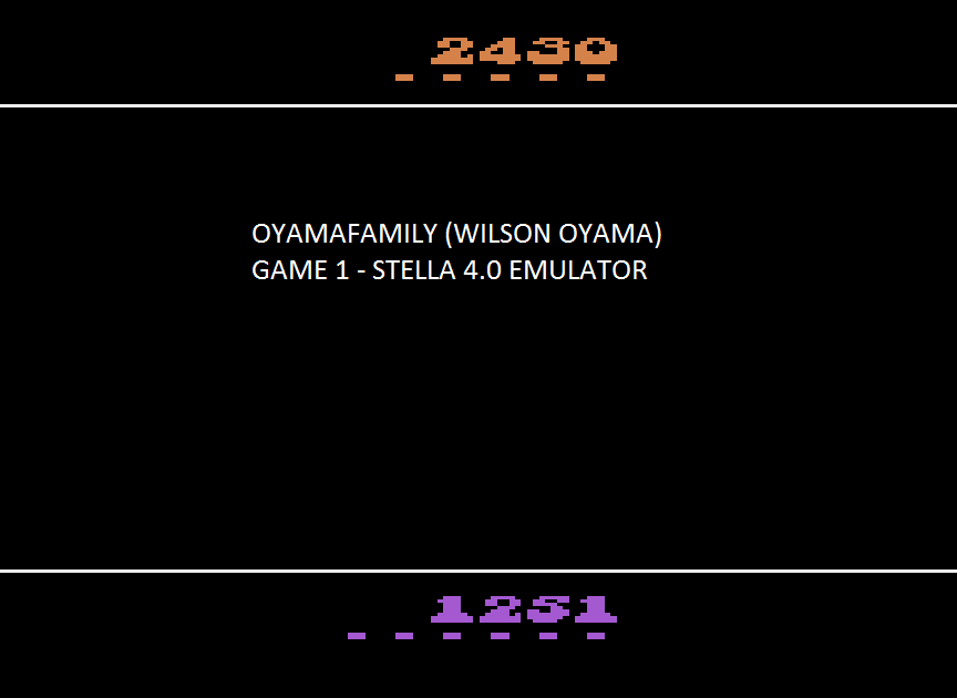 oyamafamily: Quick Step (Atari 2600 Emulated) 2,430 points on 2015-08-09 19:00:53