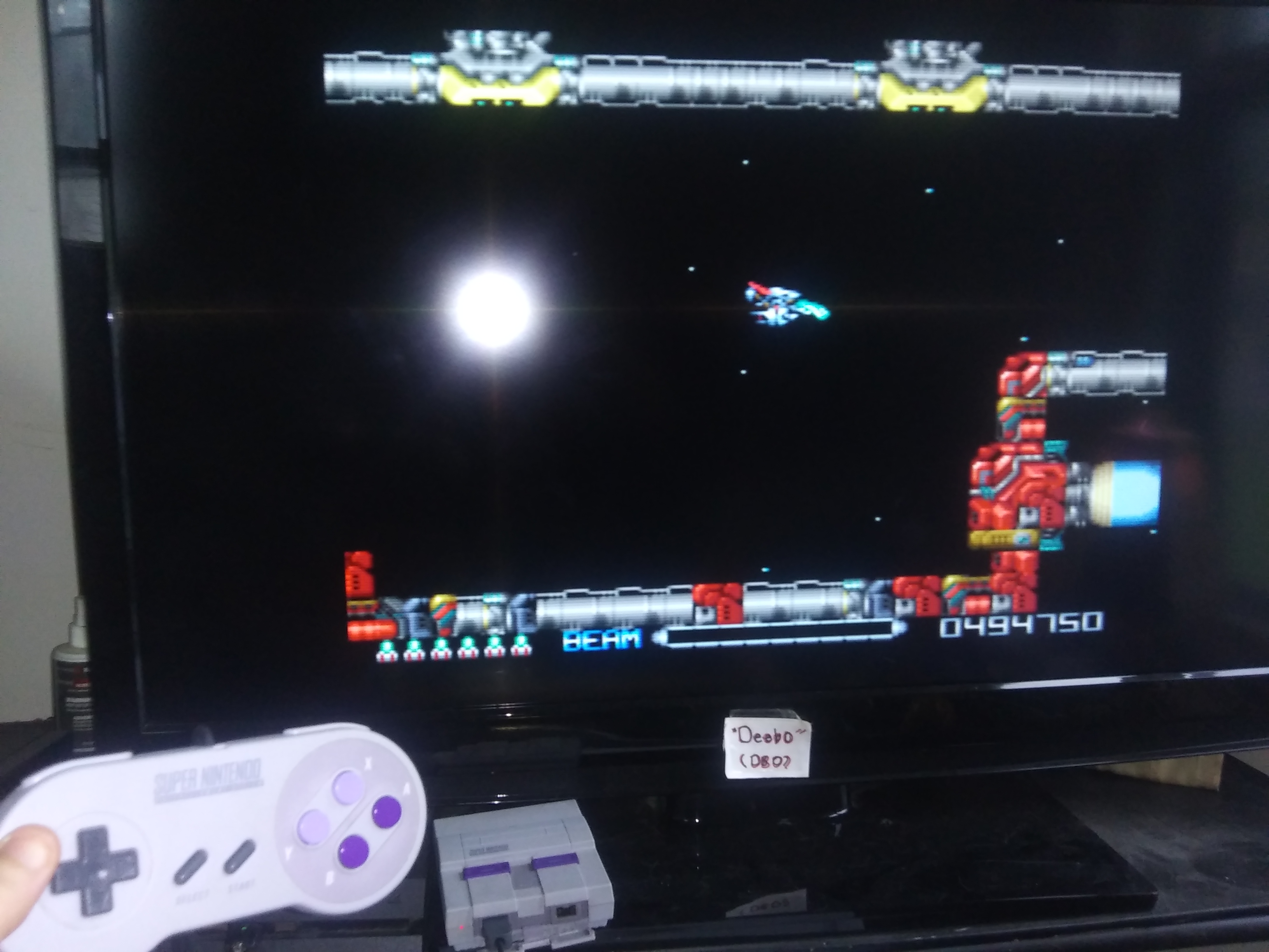 Deebo: R-Type III (SNES/Super Famicom Emulated) 494,750 points on 2019-07-16 18:25:11
