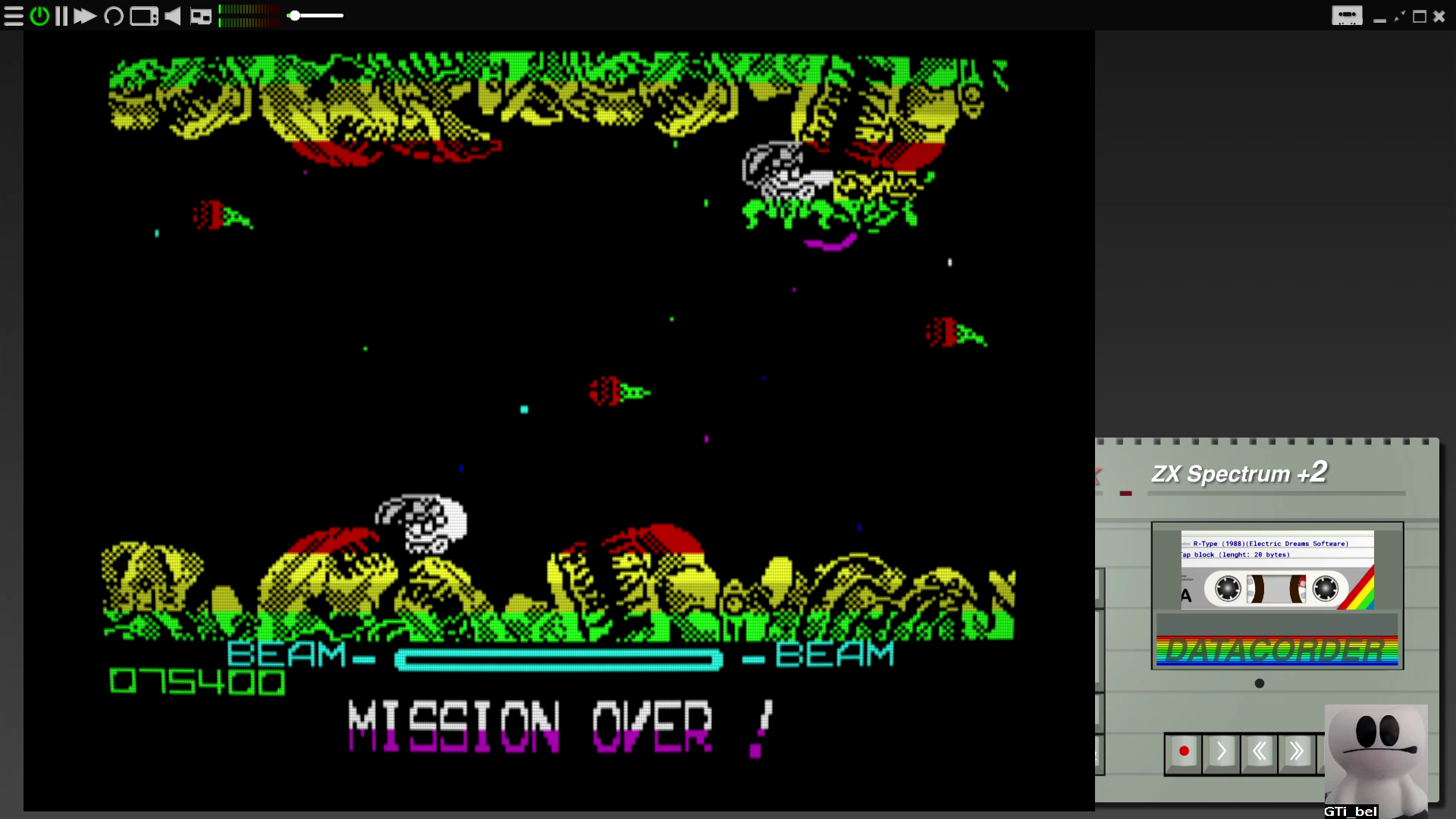 GTibel: R-Type (ZX Spectrum Emulated) 75,400 points on 2020-08-25 04:30:07
