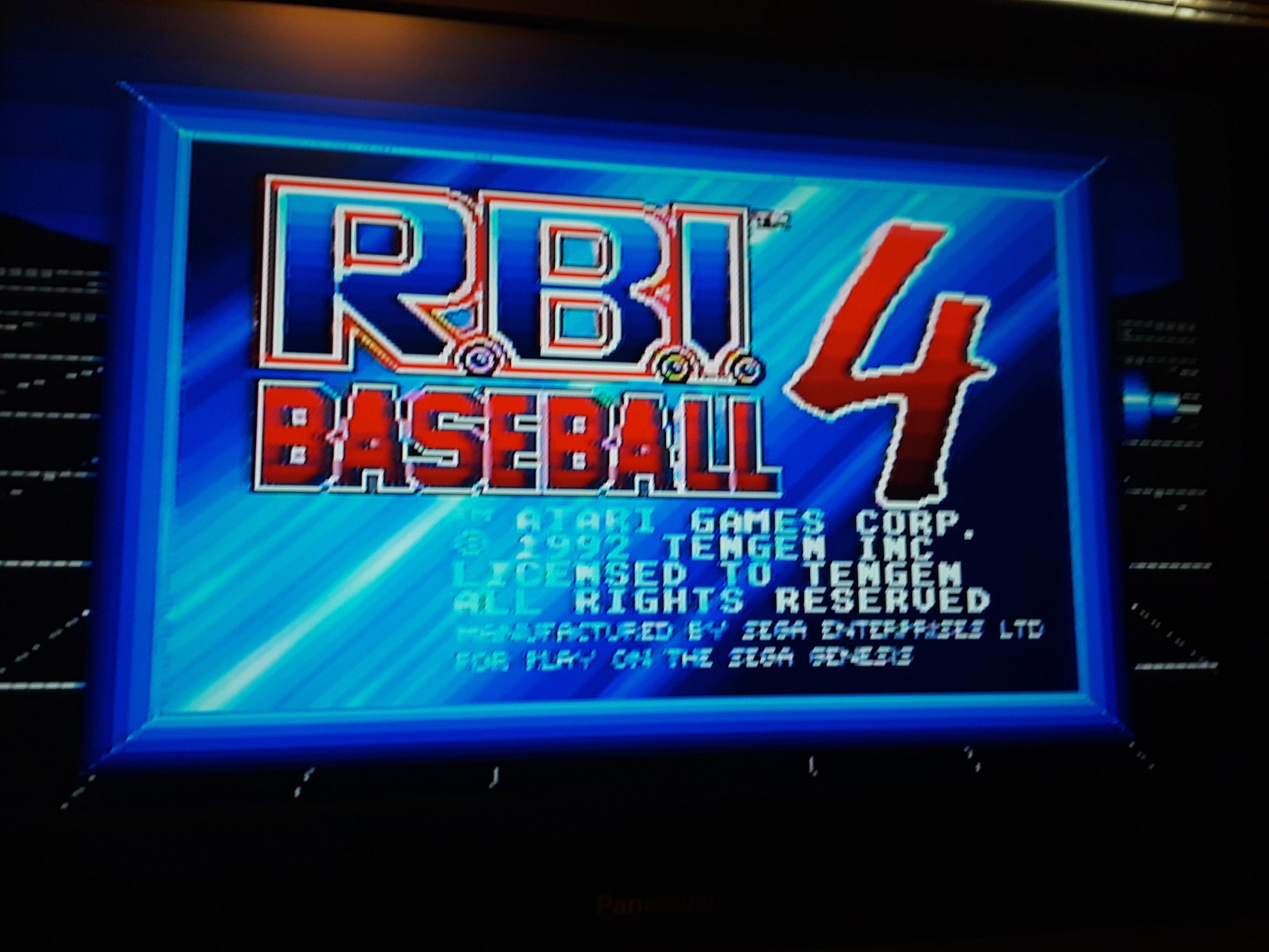 RBI Baseball 4 [Home Run Derby] [Most Home Runs] 2 points