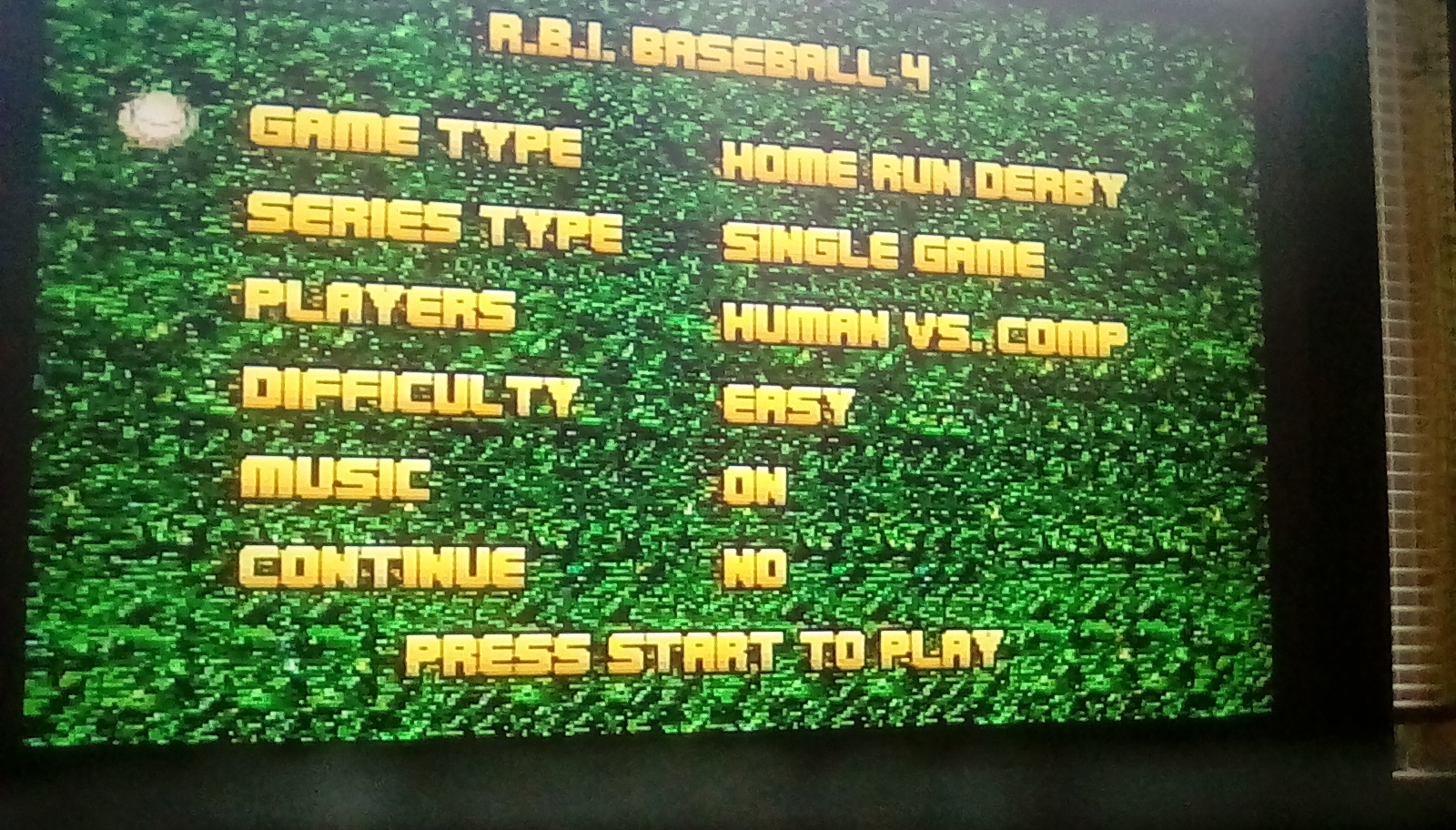RBI Baseball 4 [Home Run Derby] [Most Home Runs] 3 points