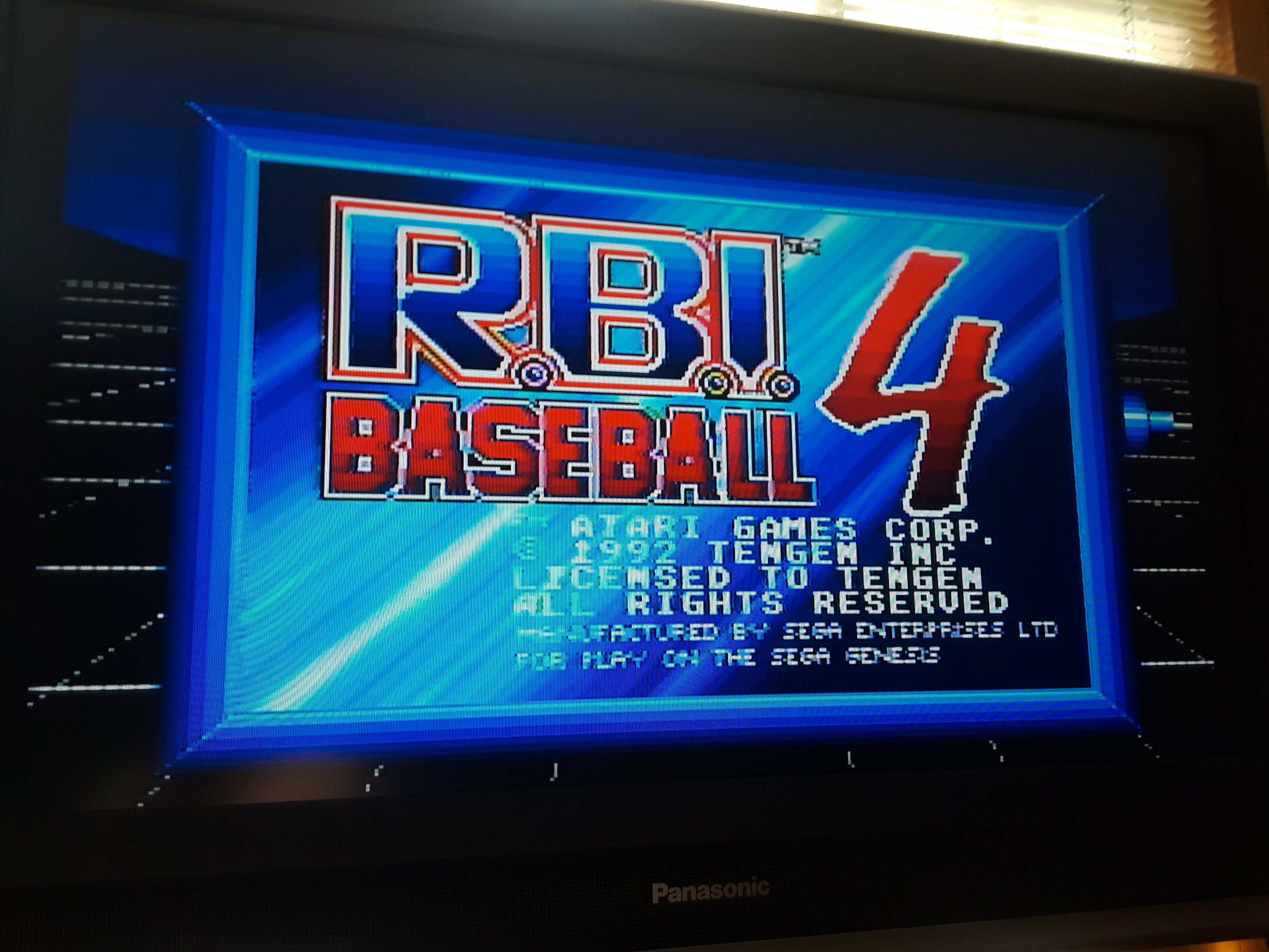 JML101582: RBI Baseball 4 [Point Difference] (Sega Genesis / MegaDrive Emulated) 10 points on 2018-07-07 19:41:11