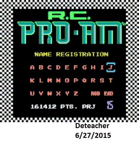 Deteacher: R.C. Pro-Am (NES/Famicom Emulated) 161,412 points on 2015-06-27 19:50:42