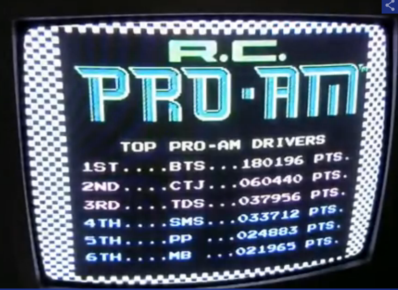 R.C. Pro-Am 180,196 points