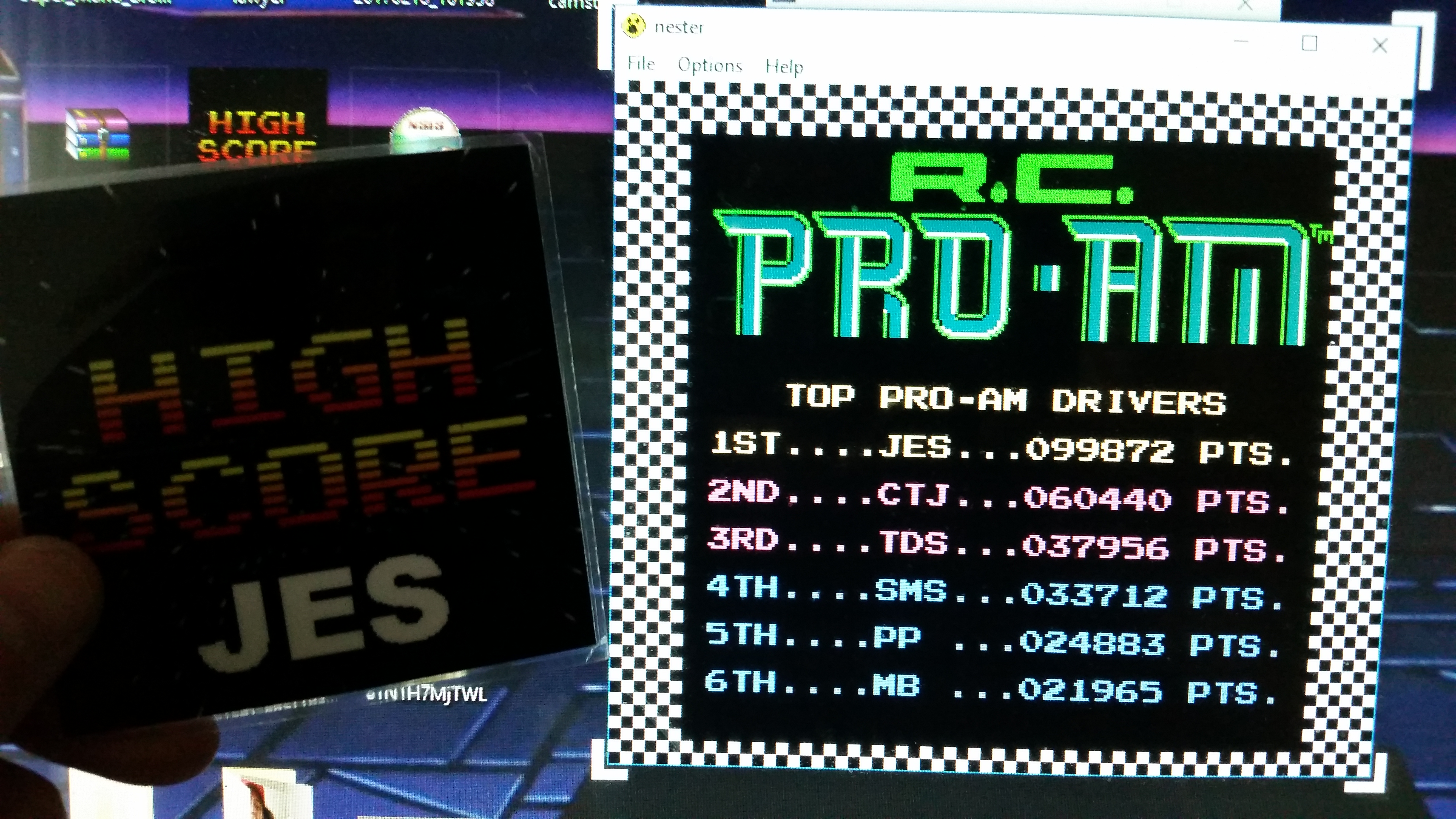 JES: R.C. Pro-Am (NES/Famicom Emulated) 99,872 points on 2017-02-22 13:46:31
