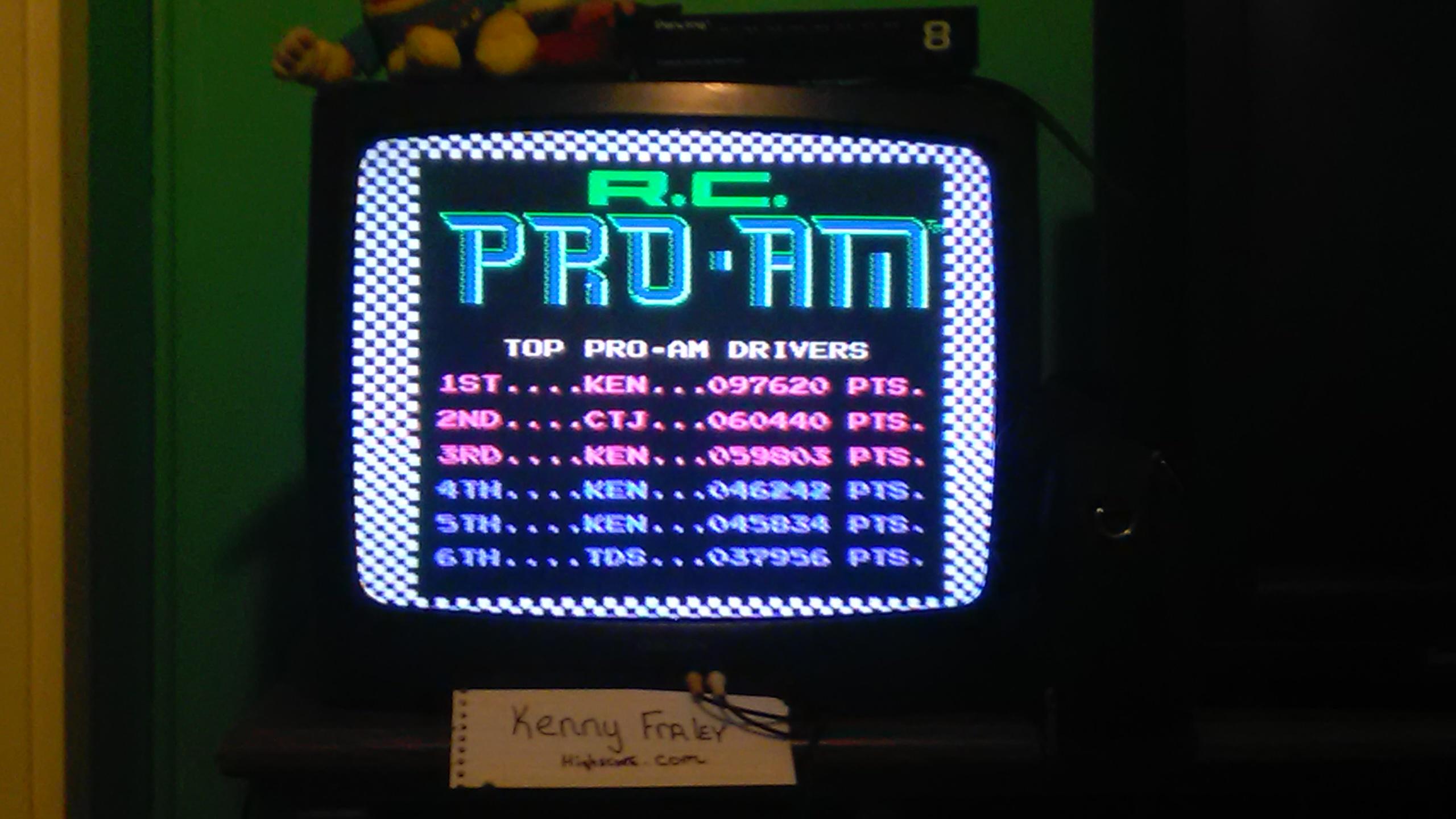 R.C. Pro-Am 97,620 points