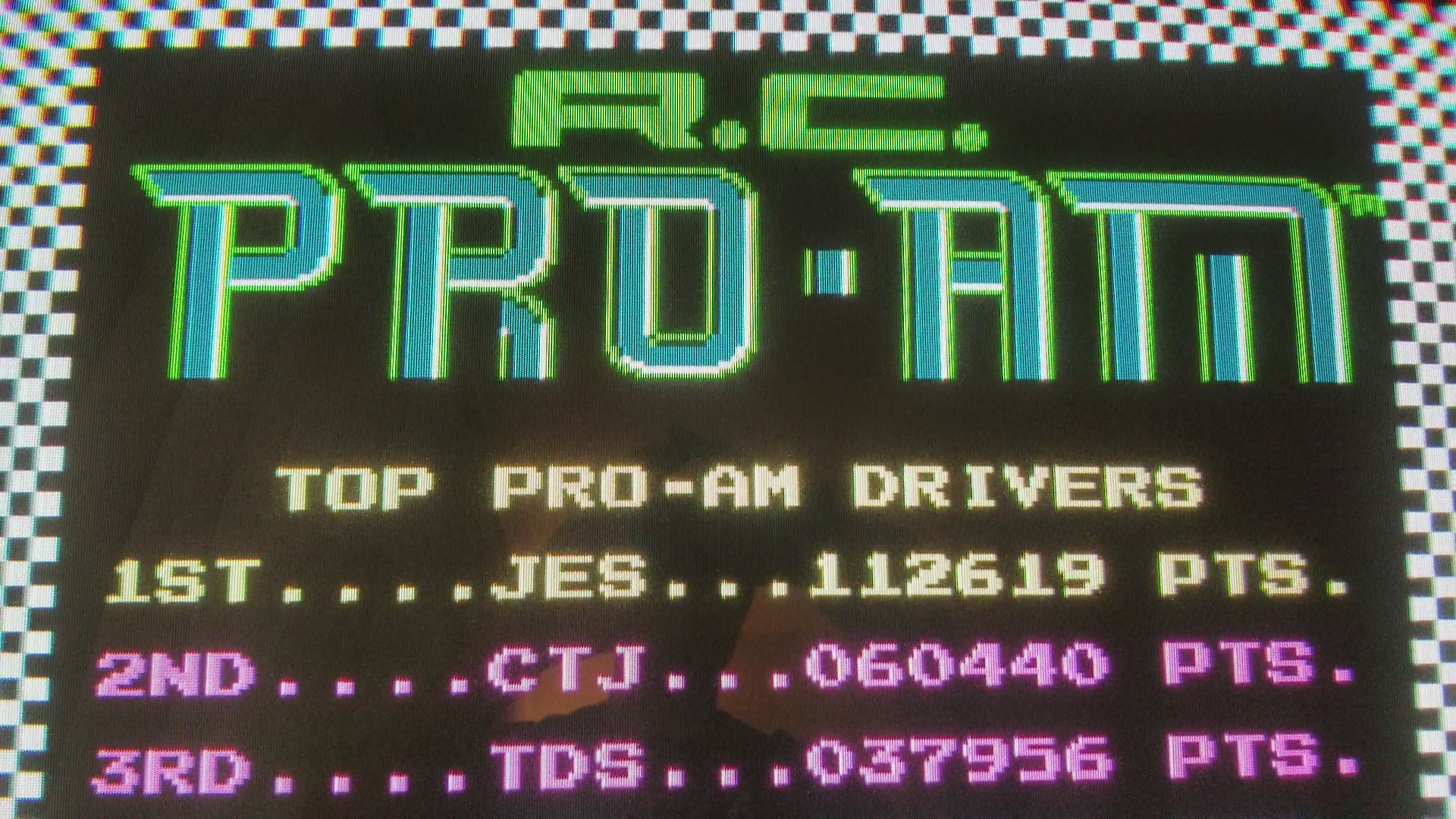JES: R.C. Pro-Am (NES/Famicom Emulated) 112,619 points on 2018-02-09 14:00:54
