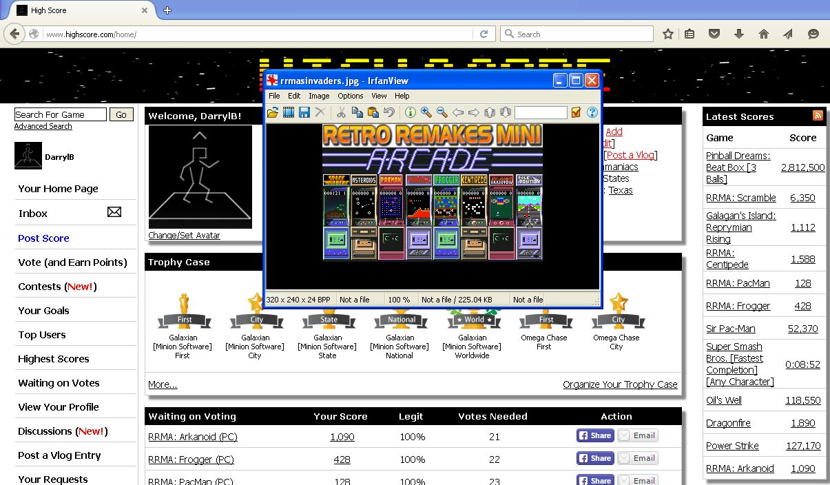 RRMA: Space Invaders 131 points