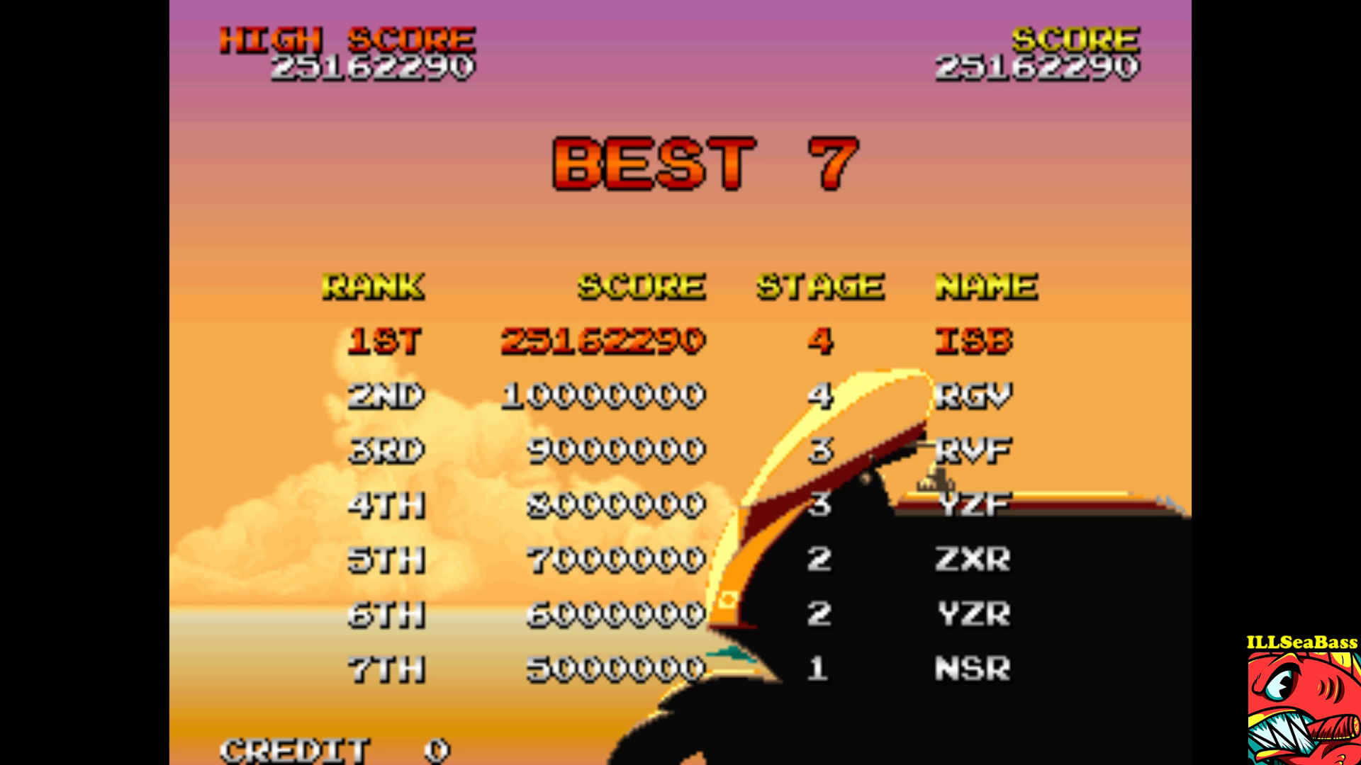 ILLSeaBass: Racing Hero (Arcade Emulated / M.A.M.E.) 25,162,290 points on 2017-09-19 21:52:15