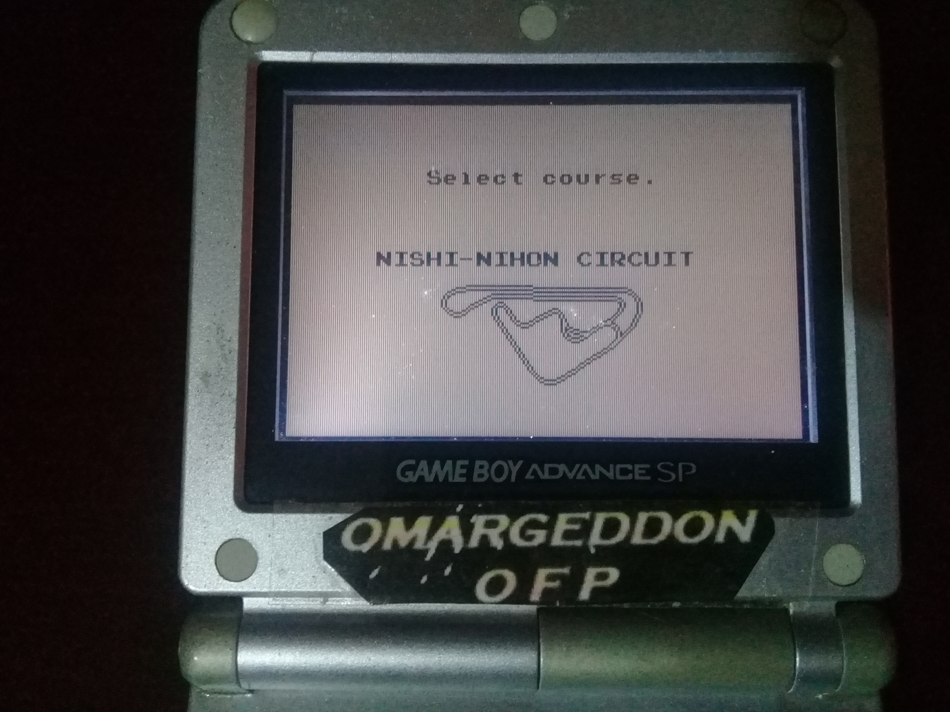 omargeddon: Racing Tamashii: Nishi-Nihon Circuit [Practice] (Game Boy) 0:03:28.5 points on 2020-06-07 17:08:02