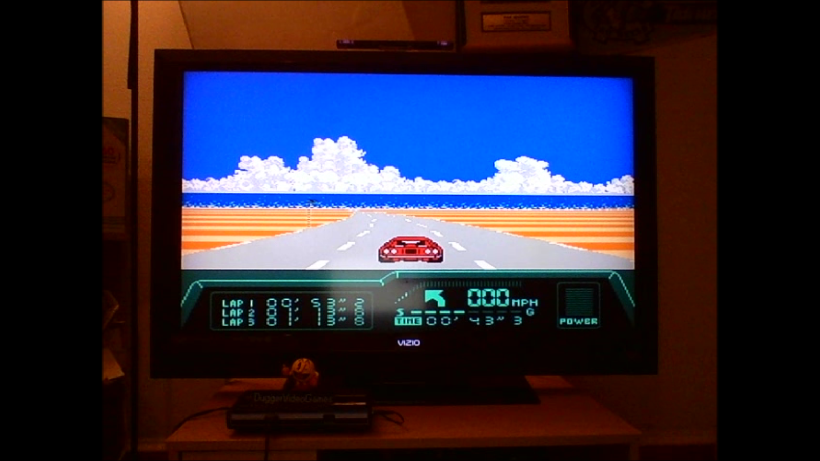 DuggerVideoGames: Rad Racer 2: Stage 1: Key West [Fastest lap] (NES/Famicom Emulated) 0:00:53.2 points on 2016-08-24 00:56:56