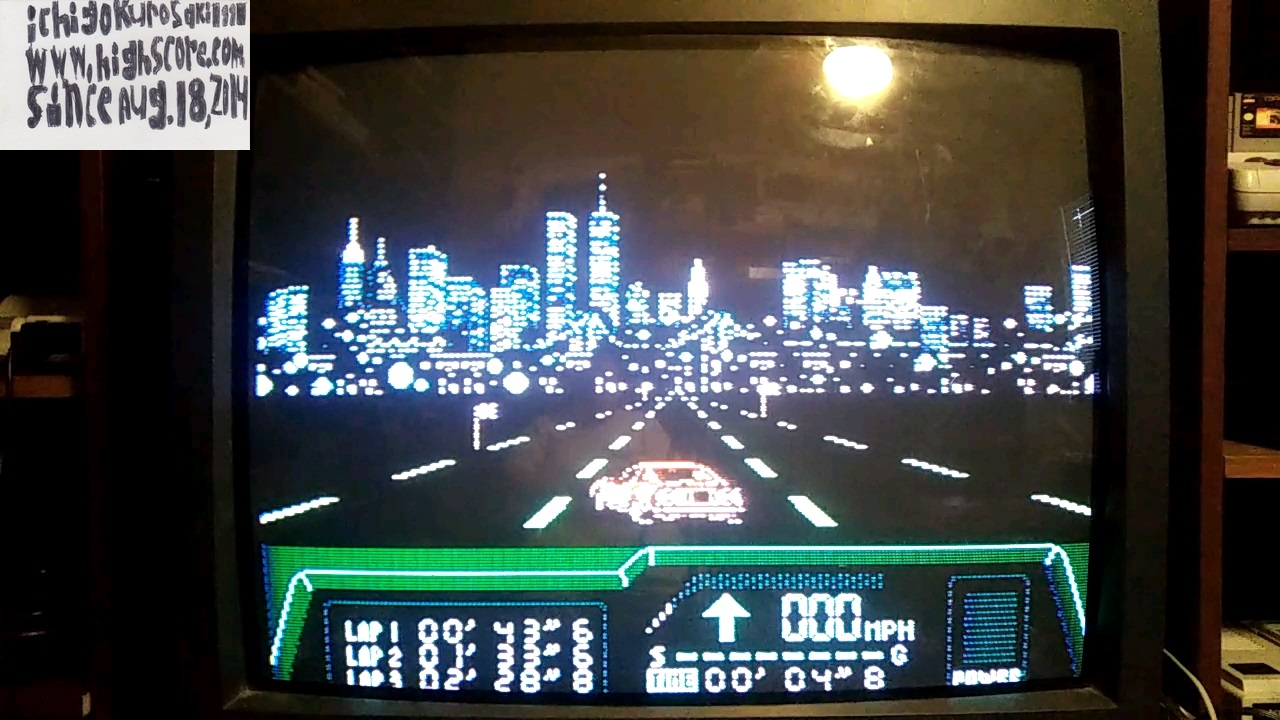 ichigokurosaki1991: Rad Racer 2: Stage 2: Big Apple [Fastest Lap] (NES/Famicom) 0:00:43.6 points on 2017-11-14 23:45:42