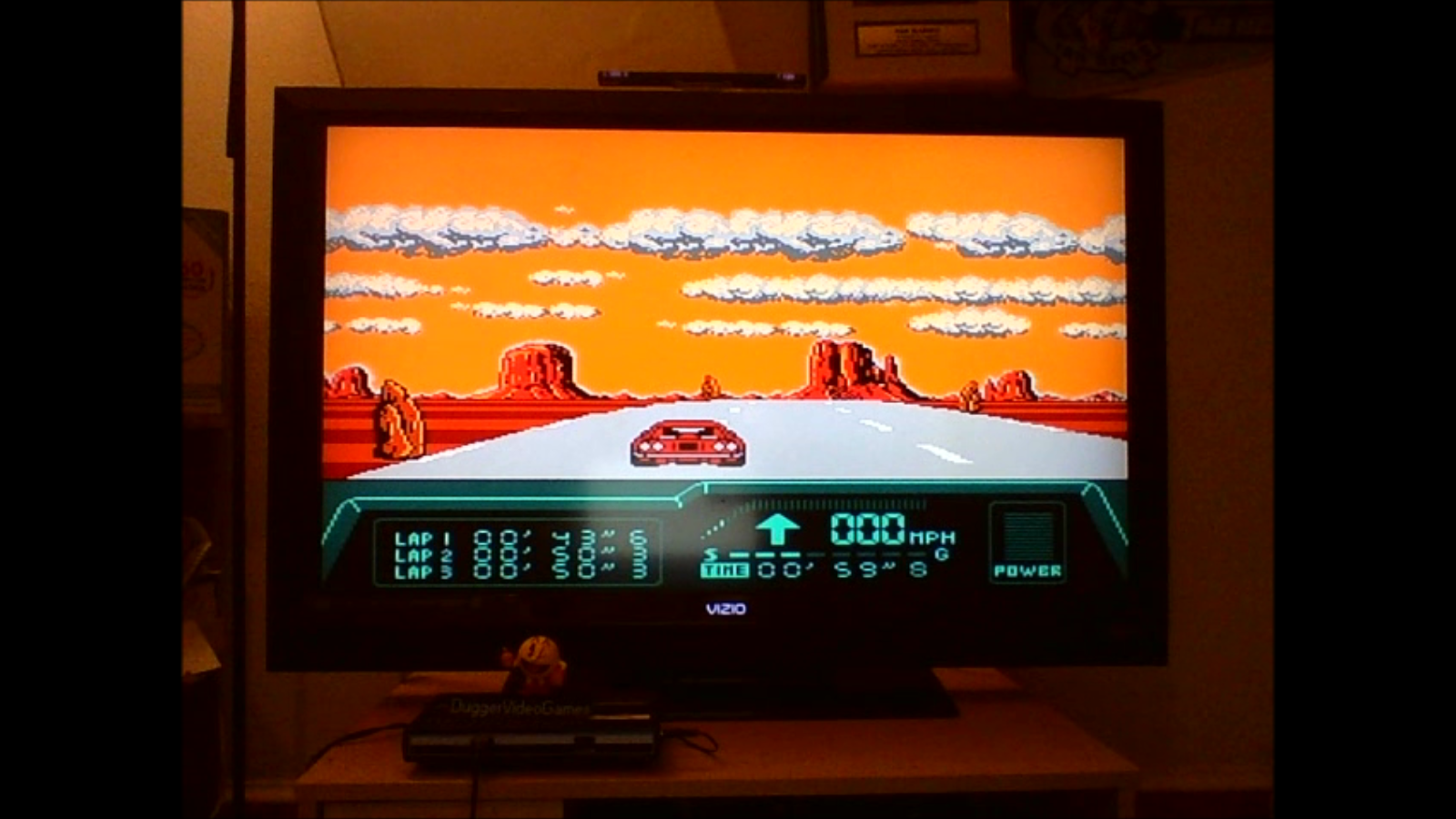 DuggerVideoGames: Rad Racer 2: Stage 4: Monument Valley [Fastest Lap] (NES/Famicom Emulated) 0:00:43.6 points on 2016-08-24 00:59:49