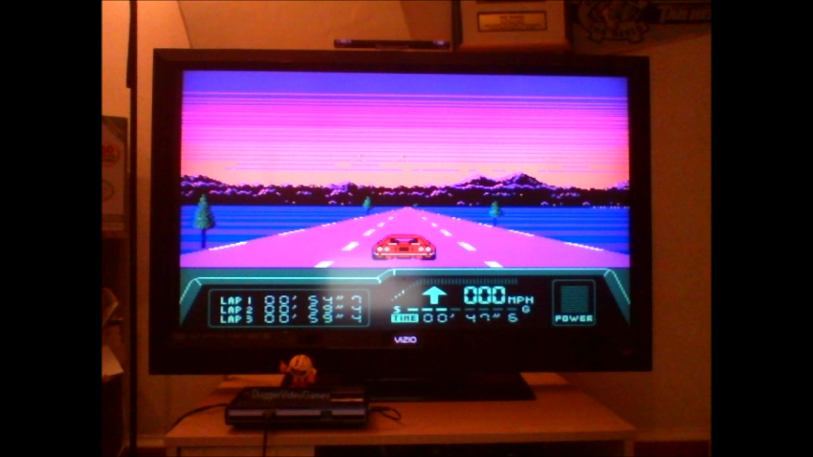 DuggerVideoGames: Rad Racer 2: Stage 7: Twilight California [Fastest Lap] (NES/Famicom Emulated) 0:00:54.7 points on 2016-08-24 01:02:36