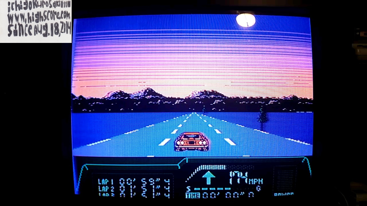 ichigokurosaki1991: Rad Racer 2: Stage 7: Twilight California [Fastest lap] (NES/Famicom) 0:00:59.4 points on 2017-11-14 23:48:13