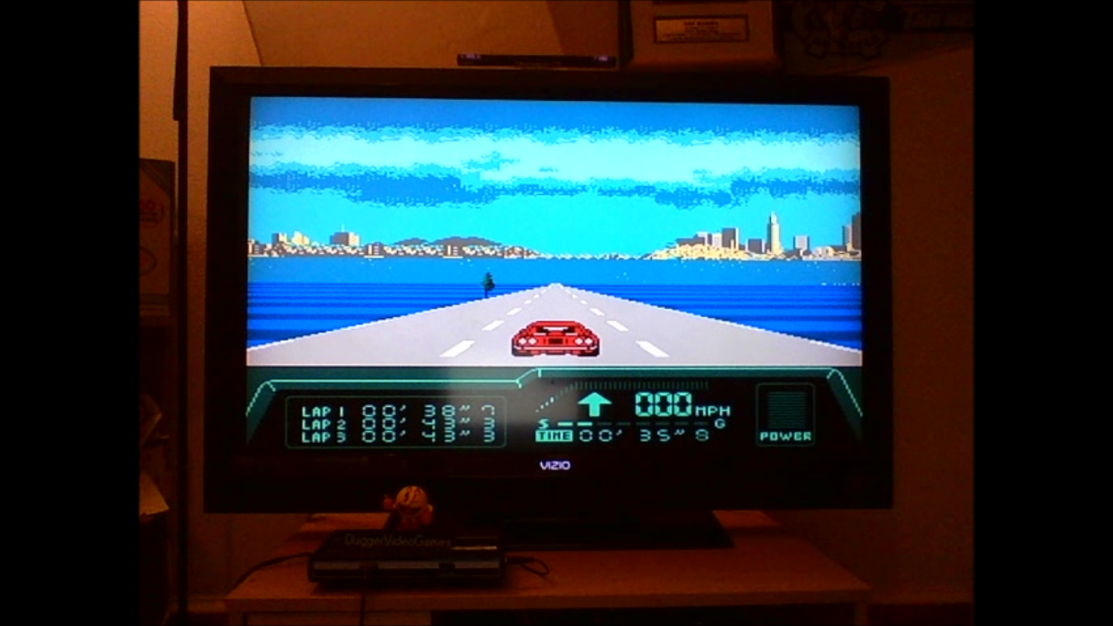 DuggerVideoGames: Rad Racer 2: Stage 8: Bay Bridge [Fastest lap] (NES/Famicom Emulated) 0:00:38.7 points on 2016-08-24 01:03:25