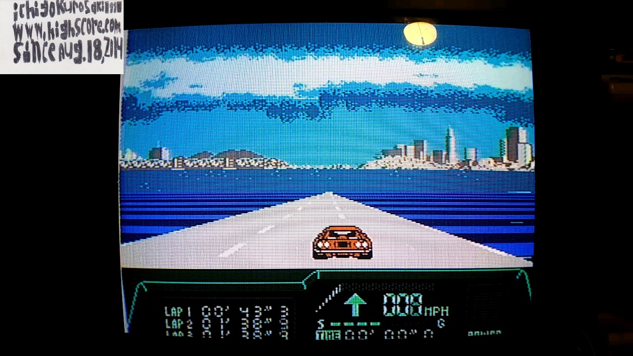 ichigokurosaki1991: Rad Racer 2: Stage 8: Bay Bridge [Fastest lap] (NES/Famicom) 0:00:43.3 points on 2017-11-14 23:43:40