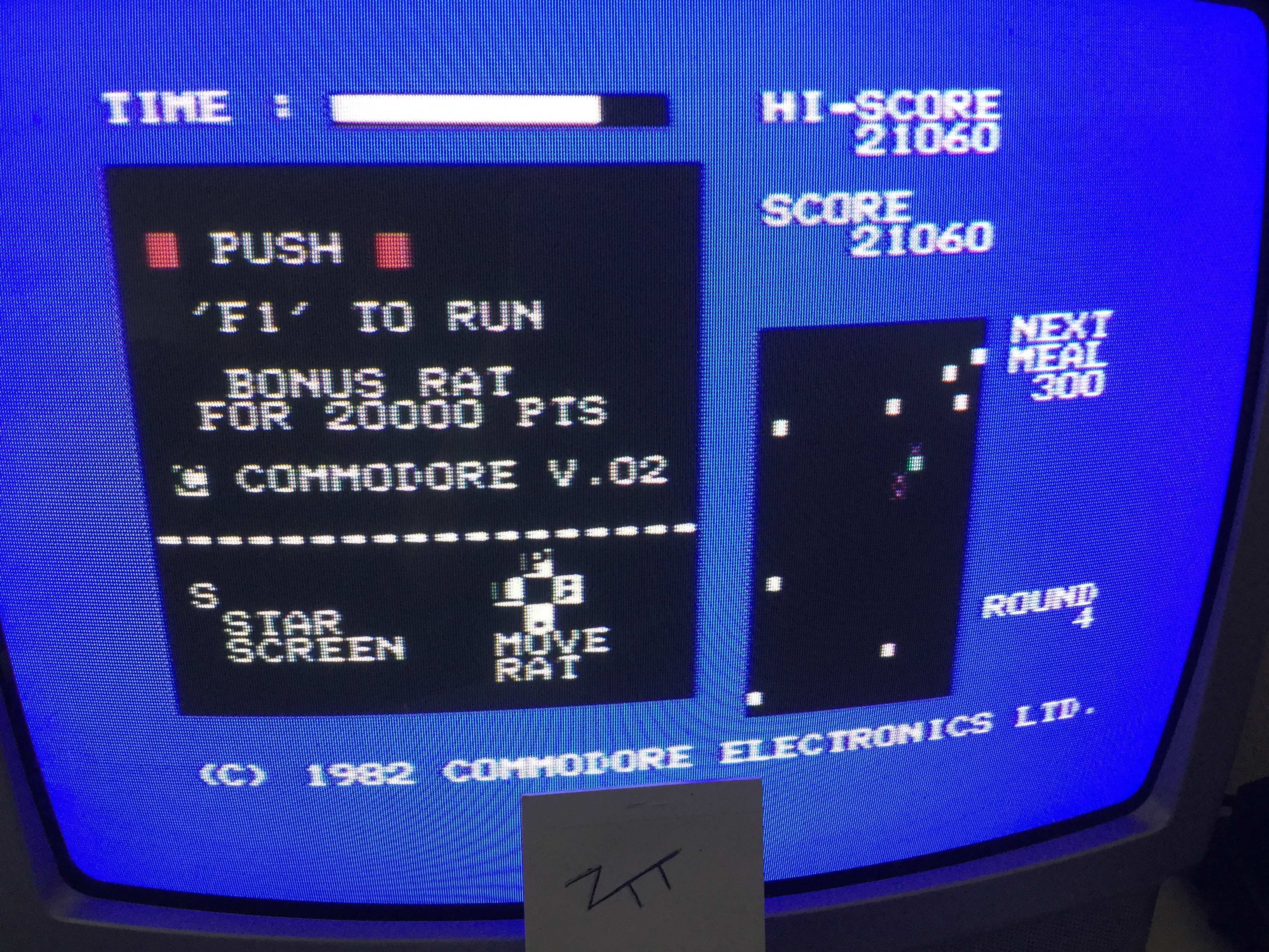 Frankie: Radar Rat Race (Commodore 64) 21,060 points on 2017-05-25 04:51:31
