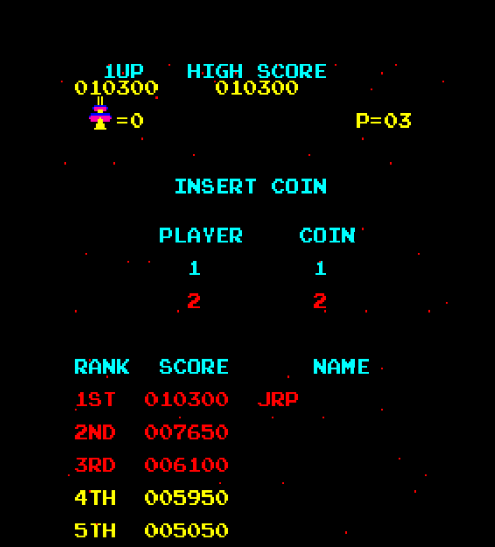 alpha: Radar Scope [radarscp] (Arcade Emulated / M.A.M.E.) 10,300 points on 2020-04-14 21:02:23