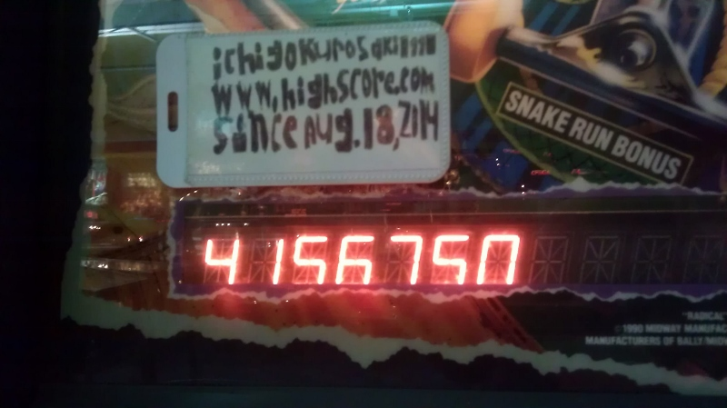 ichigokurosaki1991: Radical! (Pinball: 3 Balls) 4,156,750 points on 2016-04-08 10:04:40