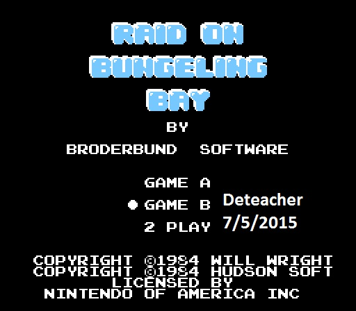 Deteacher: Raid on Bungeling Bay: Game B (NES/Famicom Emulated) 29,200 points on 2015-07-05 14:06:50