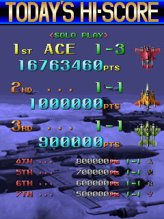 Dumple: Raiden Fighters 2 [rdft2] (Arcade Emulated / M.A.M.E.) 16,763,460 points on 2015-12-19 22:48:53